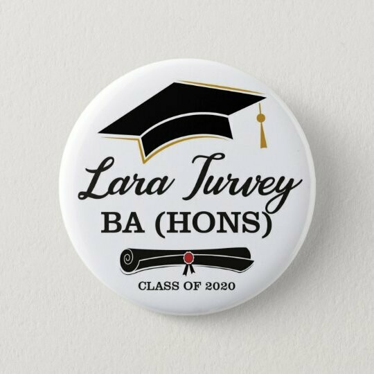 Personalised Graduation Badge / Button / Pin / Bottle Opener