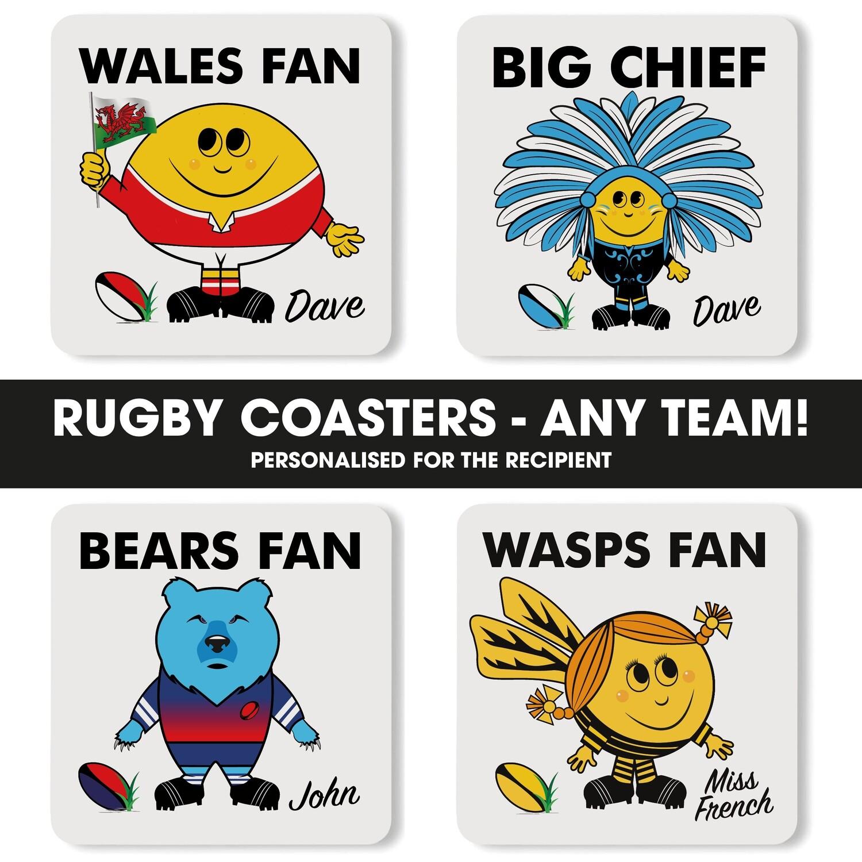 Ruby Fan Coaster (Any Team)