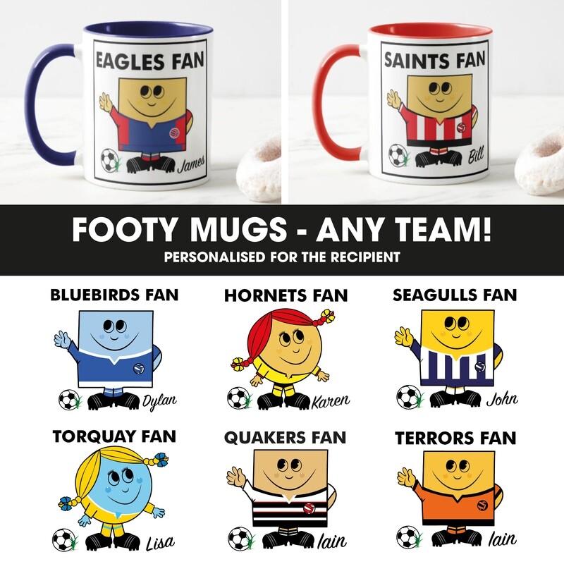 Personalised Football Fan Mug (Any Team)