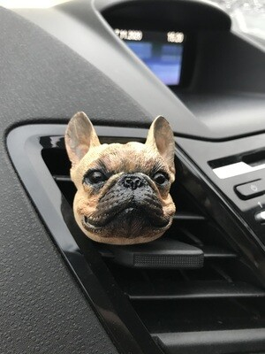 French Bulldog Car Air Freshener Vent Clip
