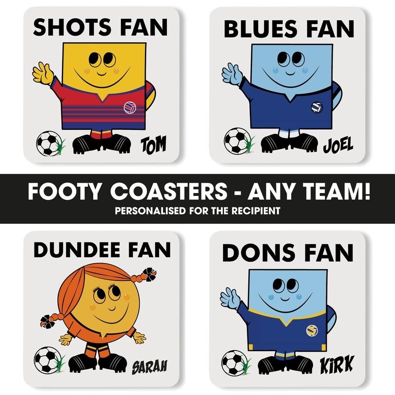 Personalised Football Fan Coaster (Any Team)