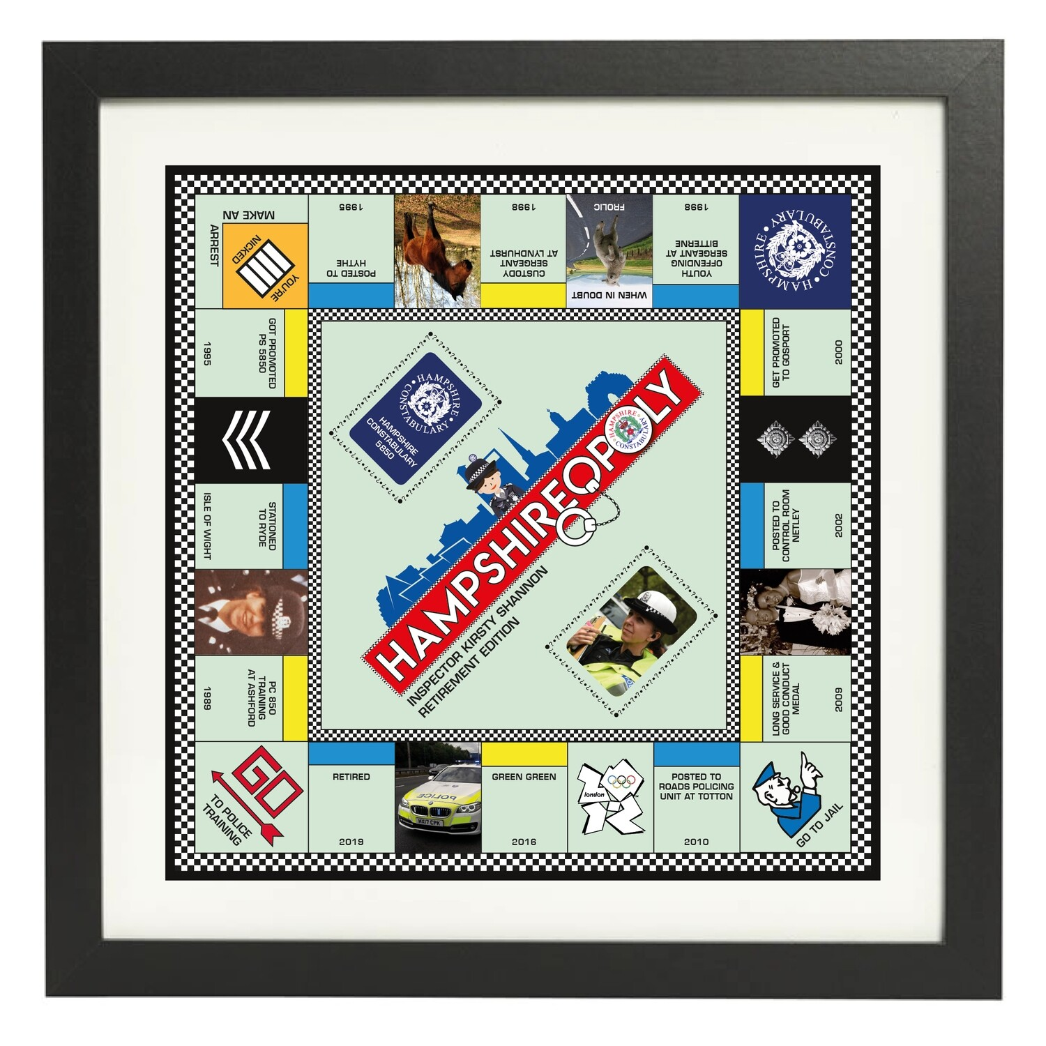 POLICEOPOLY. Personalised Police Retirement Gift (all constabularies available)