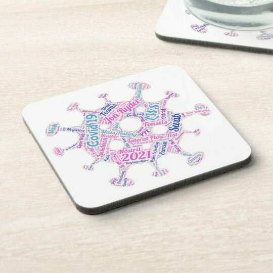 LWS Mass Testing Word Cloud Coaster