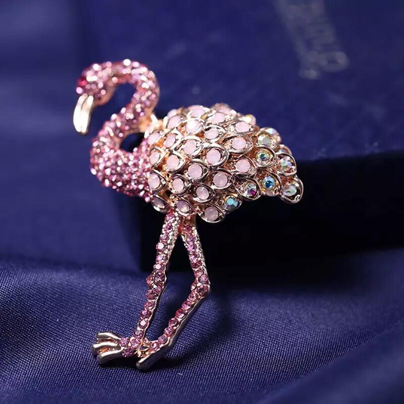 Flamingo Brooch. Kitsch. Lovely Gift for a Flamingo Fan