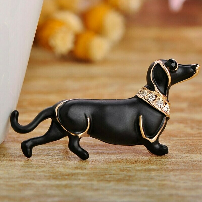 Sausage Dog Dachshund Brooch. Lovely gift for a Sausage Dog owner