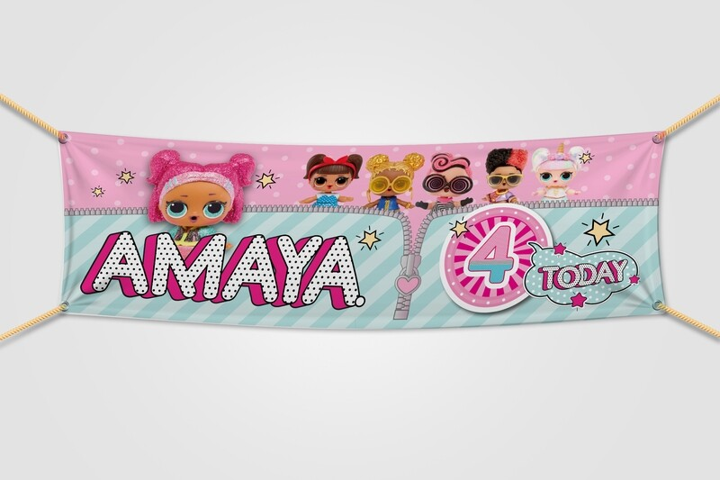 Personalised LOL Doll Banner - 6ft x 2ft