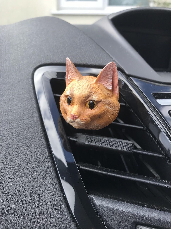 Cat Car Air Freshener Vent Clip