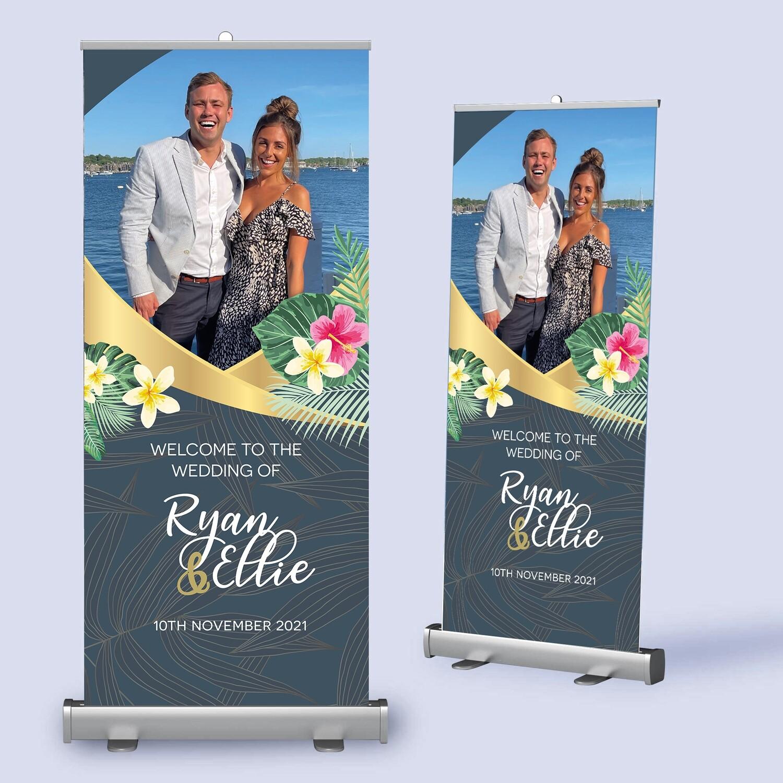 Photo Wedding Pull Up Banner