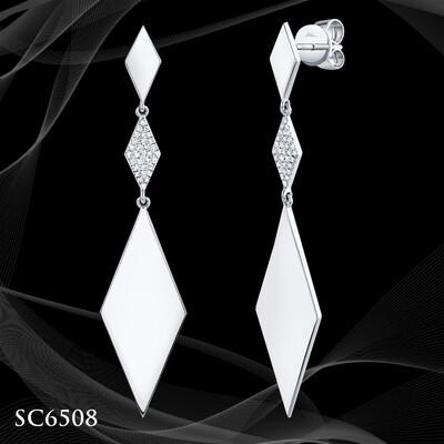 14 Karat Diamond Dangle Earrings