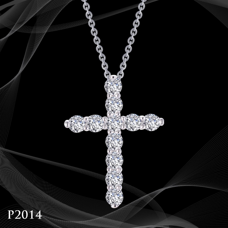 Platinum over Sterling Silver Cross