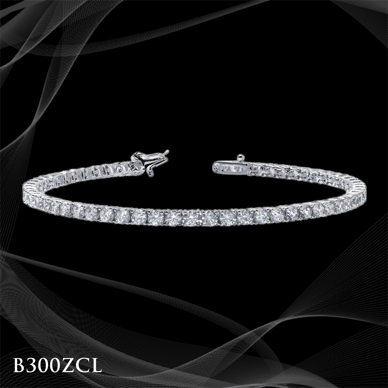 Platinum Over Sterling Tennis Bracelet