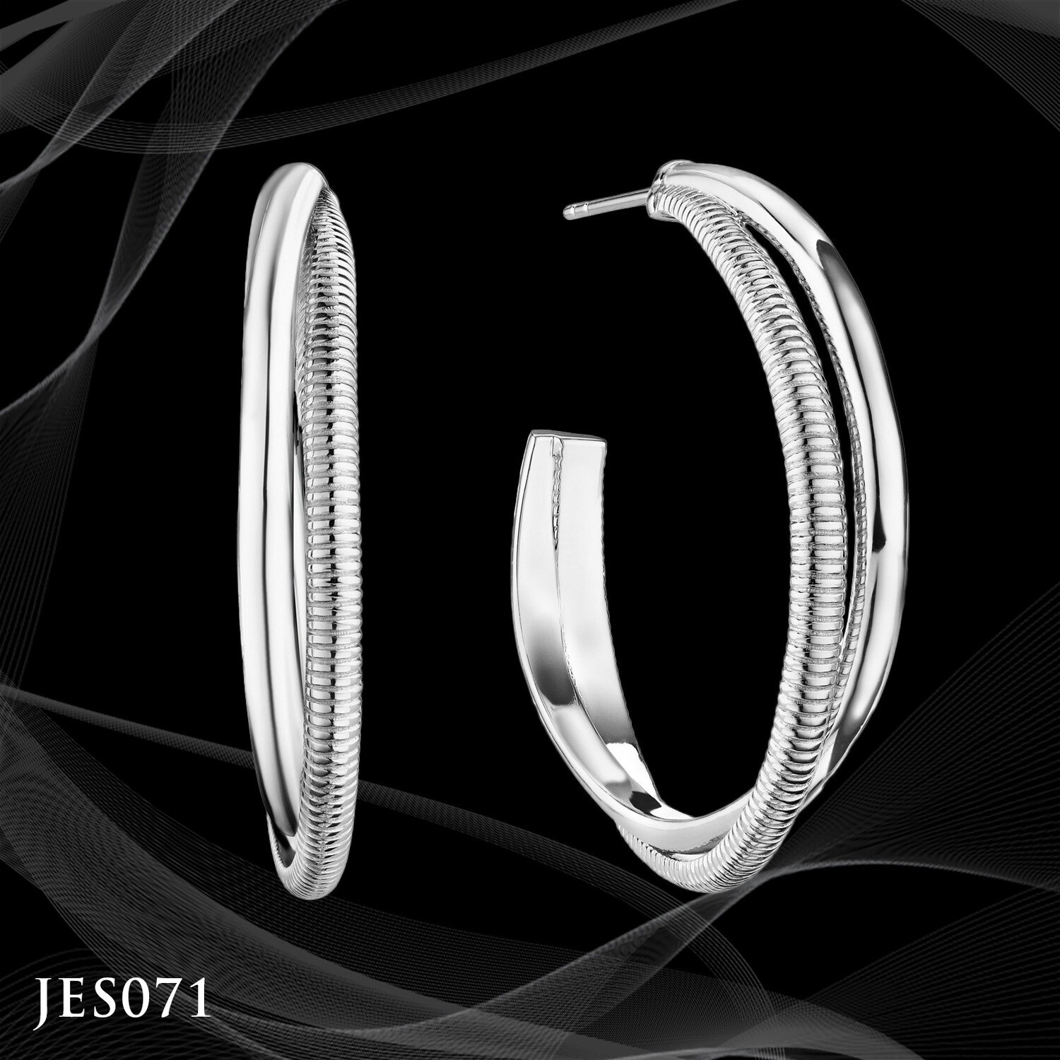 Judith Ripka Eternity Round Hoop Earrings