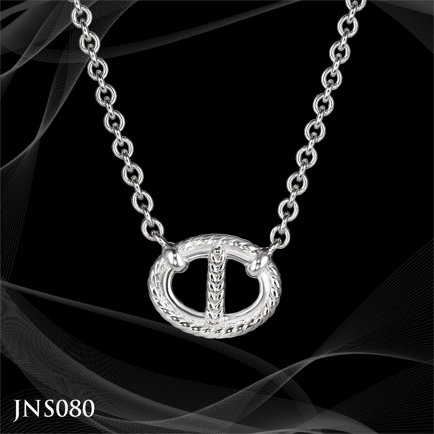 Judith Ripka Sterling Silver Link Necklace on an 18 Inch Chain
