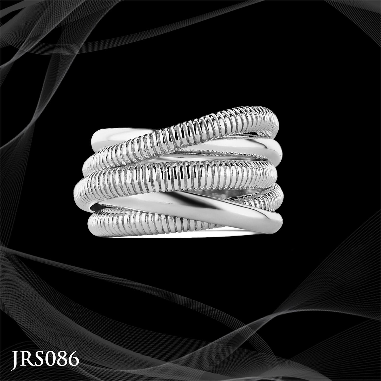 Judith Ripka Sterling Silver Eternity Highway Ring