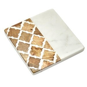 Cordoba Wood Marble Coaster