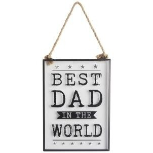 Best Dad Glass Sign