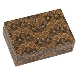 Brown Charleston Art Deco Trinket Box