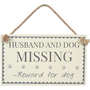 Husband & Dog Missing Sign