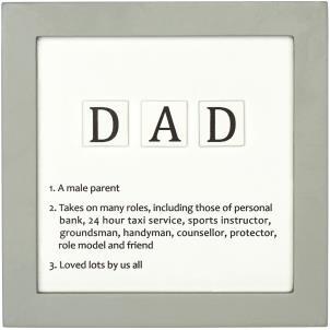 Letter Tiles Defin Signs Dad