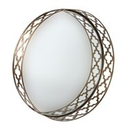 Bronze Quatrefoil Clear Mirror