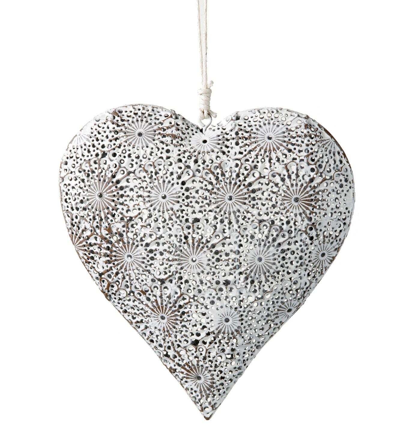 Hanging Heart Cream Lace
