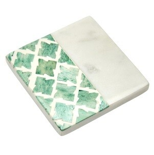 Cordoba Jade Green Marble Coaster