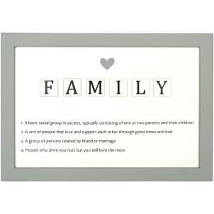 Letter Tiles Defin Sign-Family