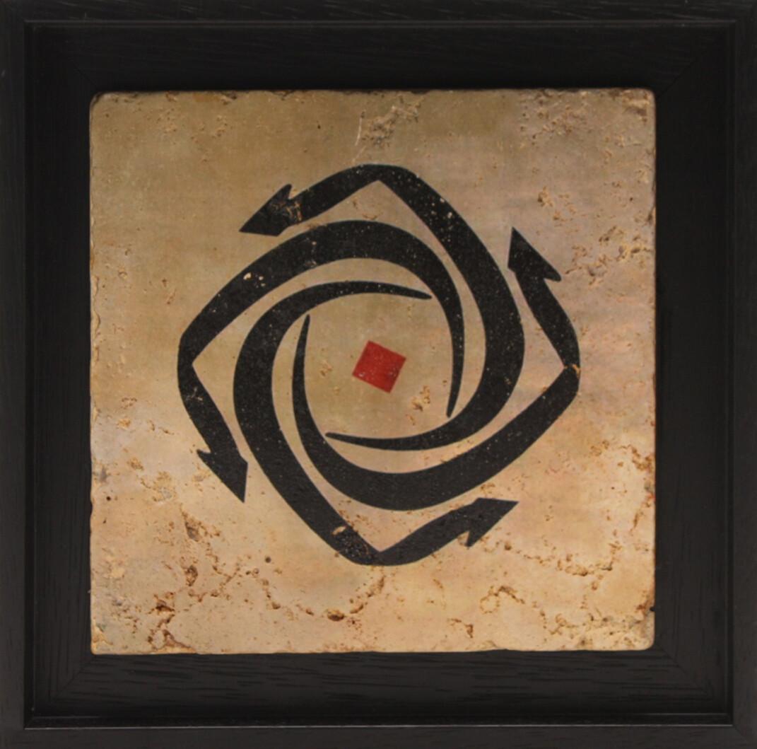 Circular Noons Red Dot Design Stone Art