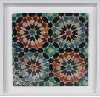 Madrasa Ben Youssef Marrakesh Moroccan Zellige Mosaic Design Framed Stone Art