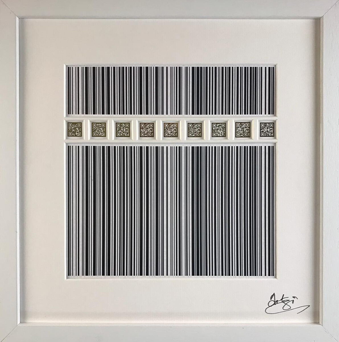 Kaaba - Code of Life in White Box Frame