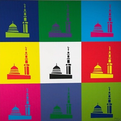 Madina of Colour Modern Design Original Giclée Canvas