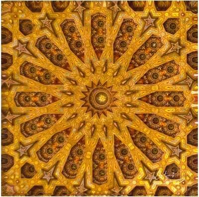 Al-Hambra Moorish Geometric Design Greeting Card