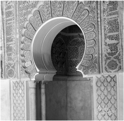 Monochrome Blessed Arches Greeting Card (D3)