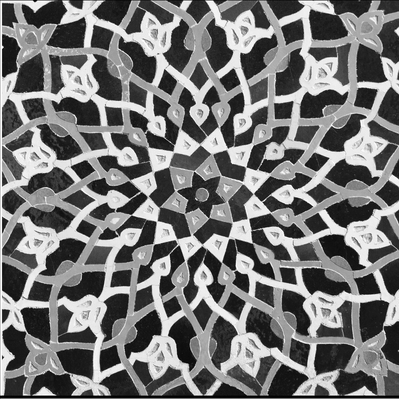 Black & White Arabesque Geometric Design Greeting Card
