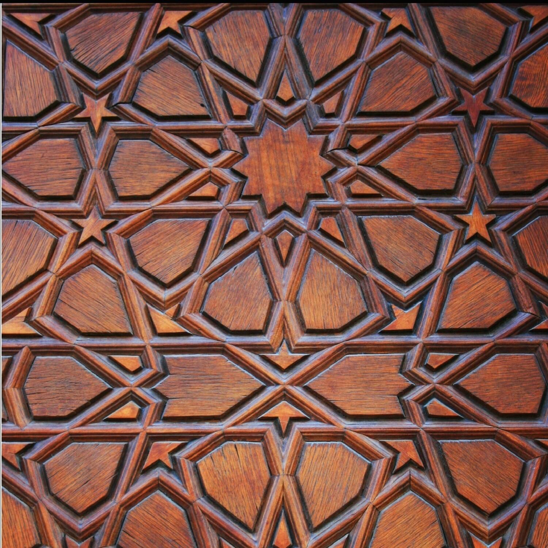 Brown Traditional Geometric Design Greeting Card