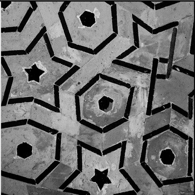 Grey & Black Geometric Design Greeting Card