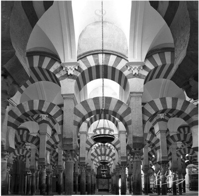 Monochrome Blessed Arches Greeting Card (D2)