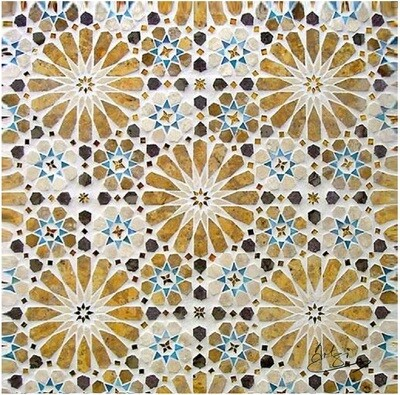 Orange & Brown Moroccan Zellige Mosaic Design Greeting Card