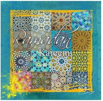 Ramadan Kareem - Patchwork Geometric Collage Greeting Card