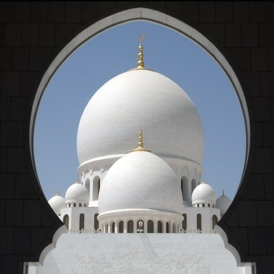 The Grand Mosque Domes Greeting Card