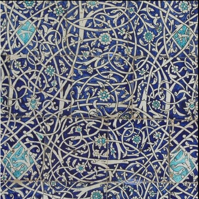 Turqouise & Blue Persian Arabesque Design Greeting Card