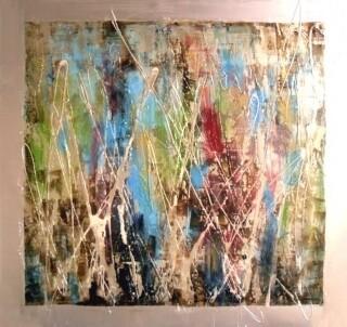 Abstract Abracadabra Modern High Gloss Oil Painted Canvas