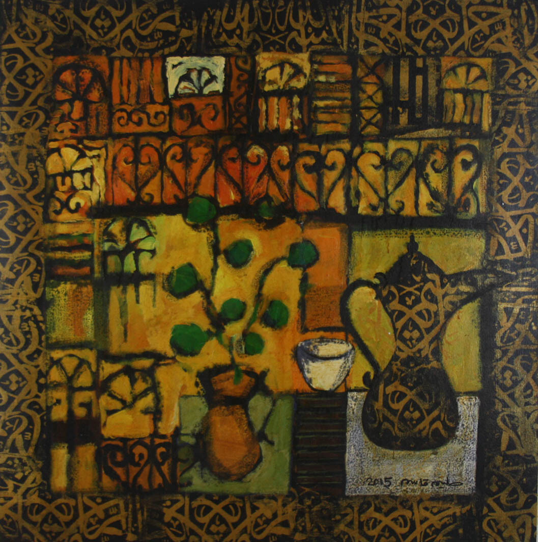 Abstract Collage Mixed Media Original Hand Painted Canvas