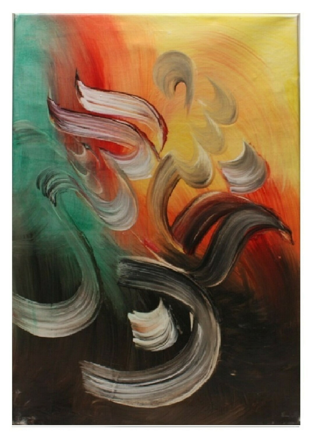 Subhan-Allah Abstract Original Hand Painted Canvas