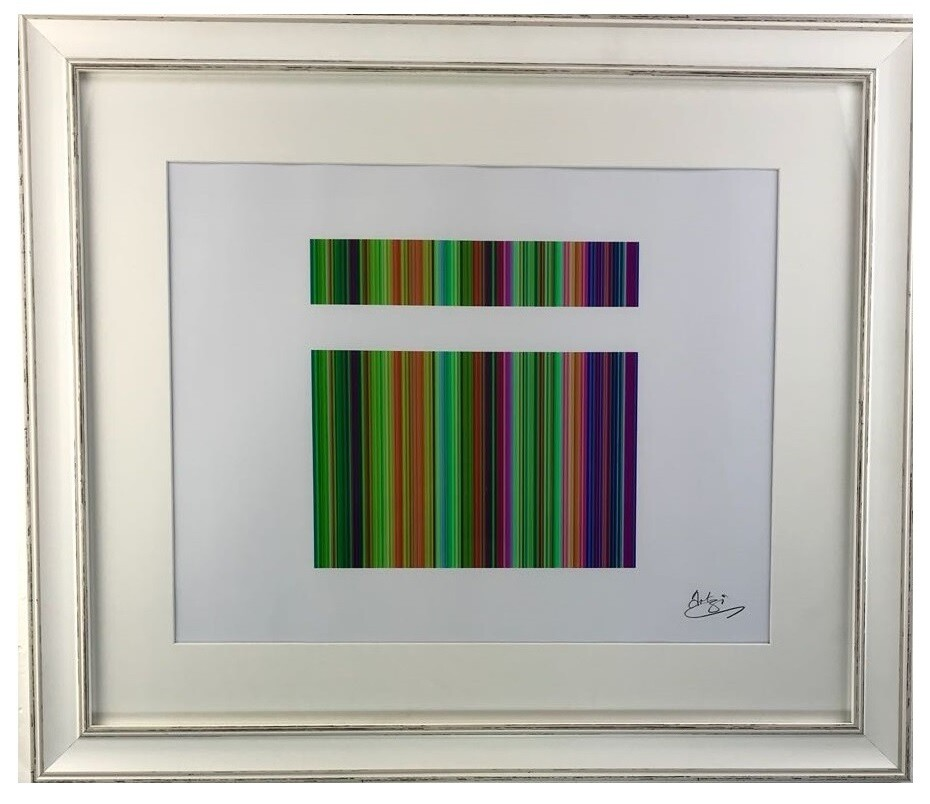 The Vibrancy of Islam Modern Art in a White Distressed Frame