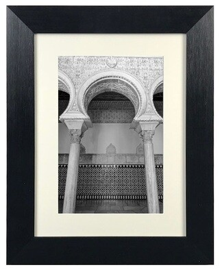 Monochrome Blessed Arches Architecture Art (D1) in Black Frame