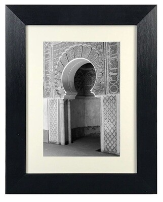 Monochrome Blessed Arches Architecture Art (D3) in Black Frame