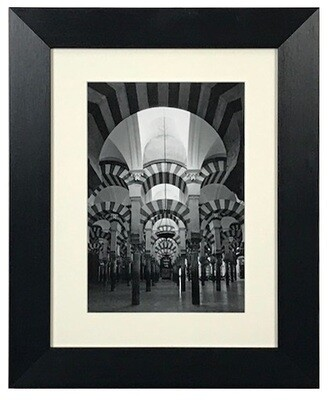 Monochrome Blessed Arches Architecture Art (D2) in Black Frame