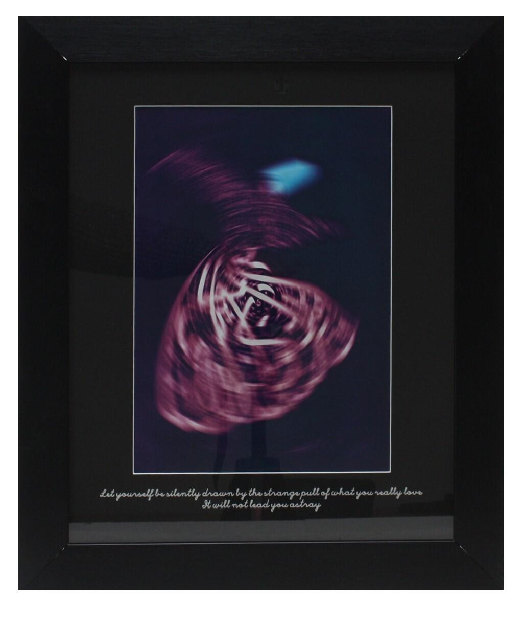 Rumi Whirling Dervish Purple Design in Black Grain Finish