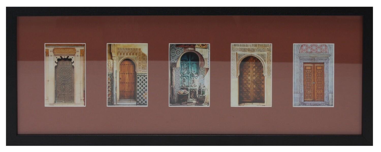 Traditional Doorways Design in Brown 3D Memory Box Frame